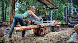 ESCAPE TO THE WILDERNESS: BRICK & COB PIZZA OVEN, Day 4   Backcountry Canoe at Secret Lake - Ep. 106