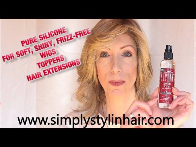 Renew Heat Defiant Synthetic Wigs Using Simply Stylin Light Silk Spray