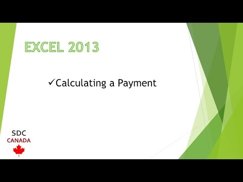 Microsoft Excel 2013 Training - Calculating a Payment