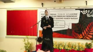 2012 Secondary School Public Speaking. My sis!