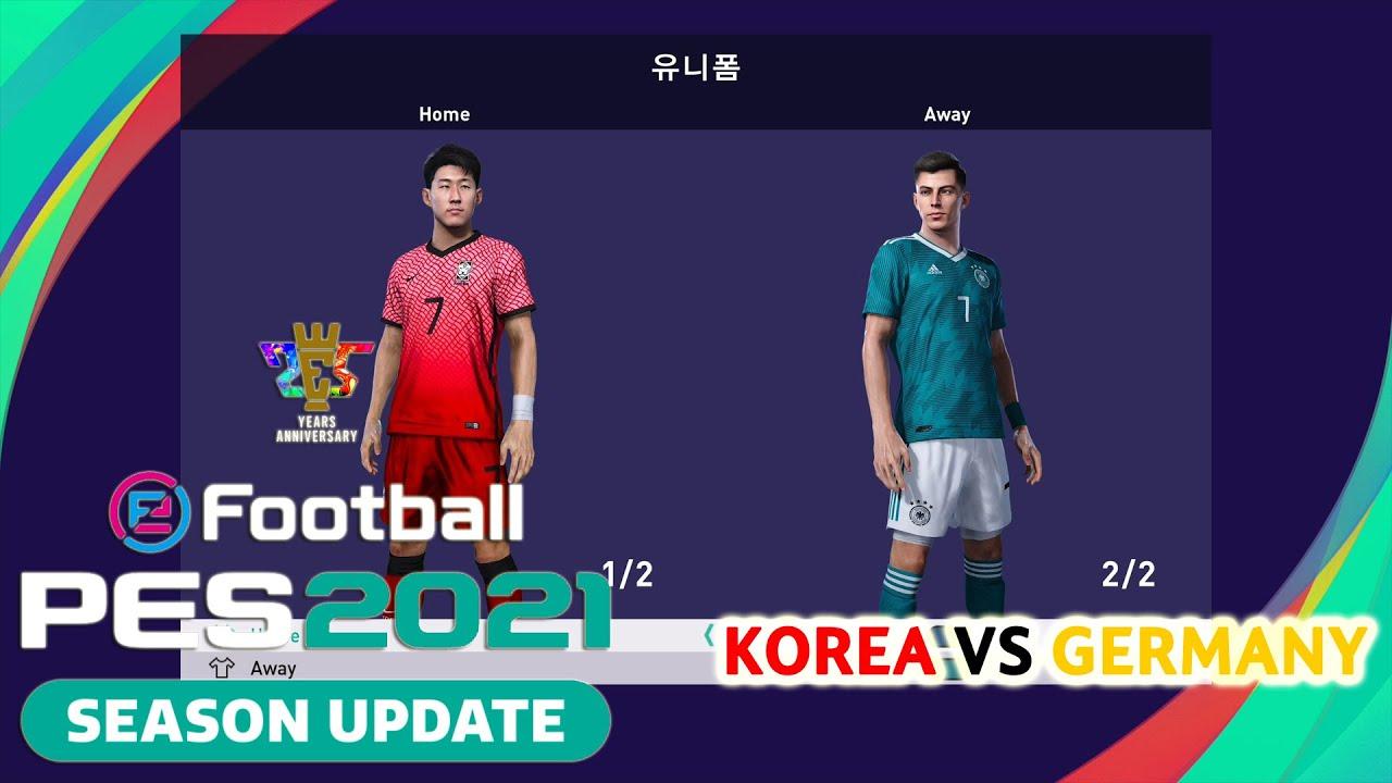PES 2021 신작 리뷰, 친선경기 대한민국 VS 독일