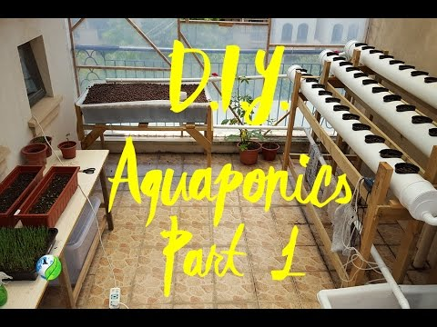 DIY NFT Ebb & Flow Growbed Combo Aquaponic system, Part 1