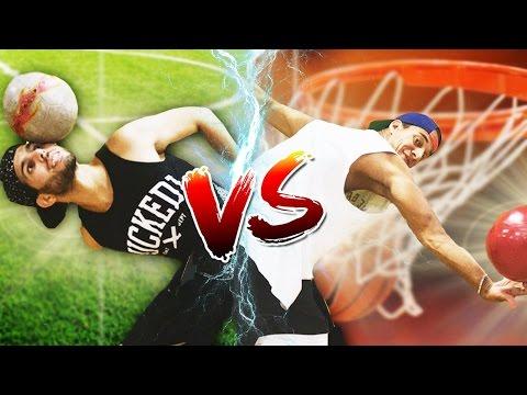 FREESTYLE FOOTBALL VS BASKETBALL
