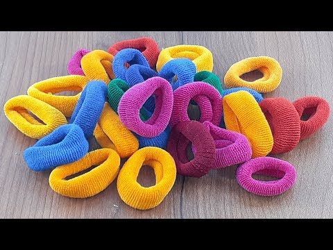 Amazing creative idea with Hair rubber bands | DIY HOME DECO | DIY art and craft