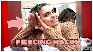 Conch Piercing Life Hack   Easy & Affordable!! | LULUSTV EP. 338