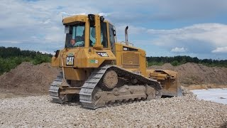 cat d6n xl and maz 6501 dump truck part 1