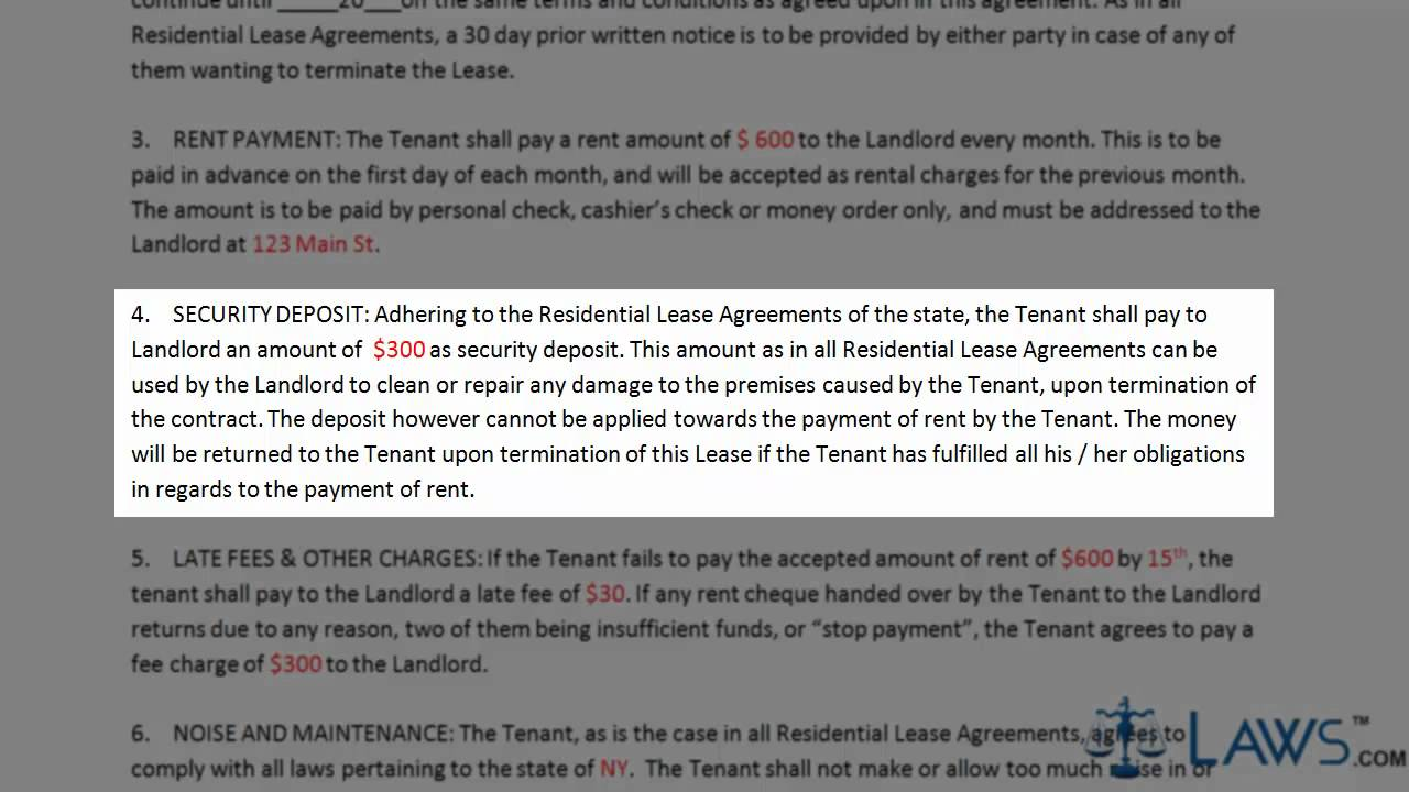 Rental Agreement Forms Youtube