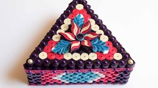 Part Two: Quilled Triangle Box Decoration/ 3d Quilled Flowers
