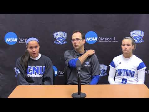 NCAA Women's Soccer 2nd Round - CNU Press Conference