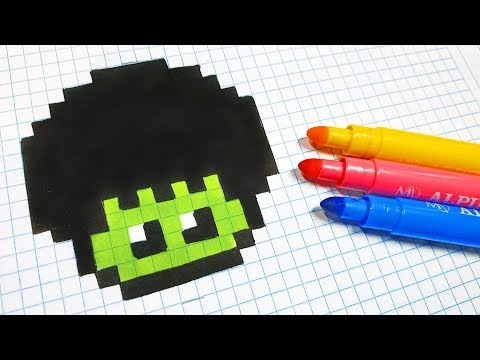 Handmade Pixel Art - How To Draw a Hulk Mushroom #pixelart