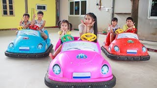 Kids Go To School | Chuns With Best Friends Play In Game Park The Children's City Toys