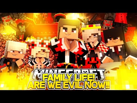 Minecraft FAMILY LIFE: WAKING UP EVIL & BACK IN OUR BODIES w/ ANGEL BABY LEAH & LITTLE DONNY!