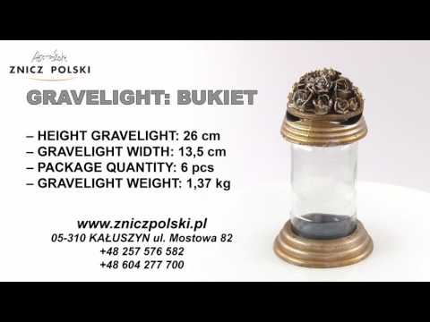 classic gravelight  - BUKIET - cemetery Light - Memorial Candle - Grave candles