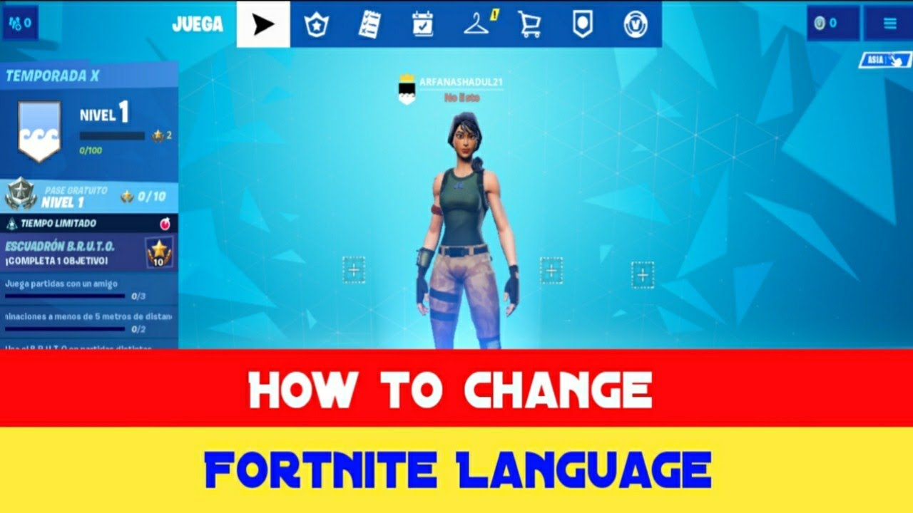 How to Change Fortnite Language 2019 - YouTube