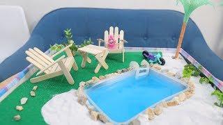Làm Bể Bơi Mini Cực Dễ Cùng Chị Bánh Quy | Kem Cam TV