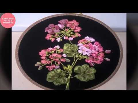 Ribbon Flowers,Ribbon Stitching,Hand Embroidery Design Ribbon Work,Embroidery Hobby & collection