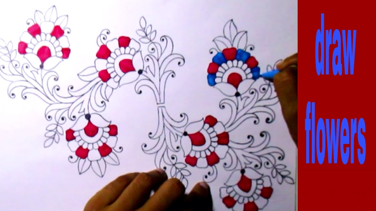 Embroidery drawings sketch