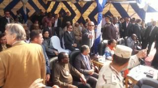 رئيس جمهورية أفريقيا الوسطى فى زيارة الى قناة السويس الجديدة واشادة بالجيش المصرى