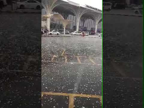 Heavy snow fall in saudi Arabia
