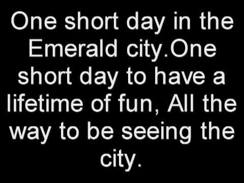 One short day - Wicked the musical (With lyrics)