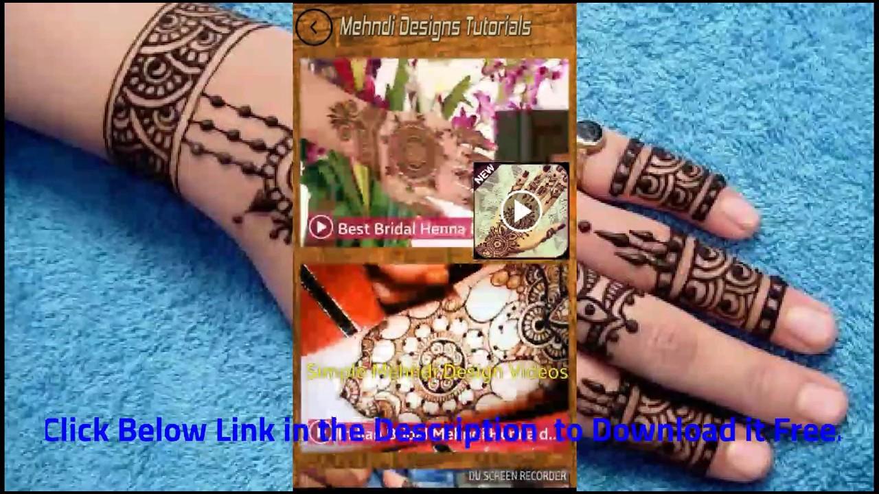 Simple Mehndi Designs Tutorial,Eid Mehndi Videos , by
