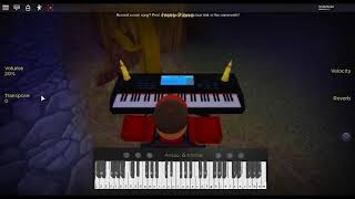 Katyusha - Moscow Military Ensemble di: Alexandrow-Ensemble su un pianoforte ROBLOX.