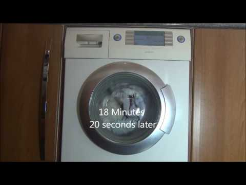 Siemens Serie IQ1430 Washing Machine : Cotton 60'c, rinse plus + anti crease