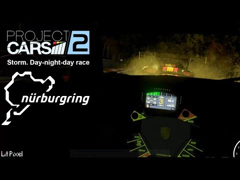 Project CARS 2 in VR - Nurburgring - 3 Laps Day-Night-Day - Rain