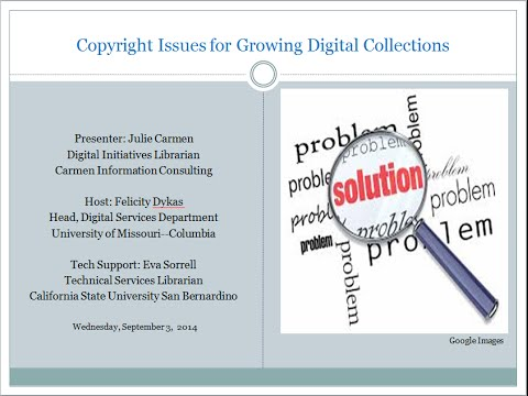Sliding Past Copyright Issues for Growing Digital Collection