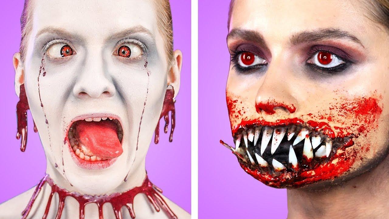 Spooky Halloween Makeup and DIY Costume Ideas    Last Minute Halloween Party Hacks & Tricks