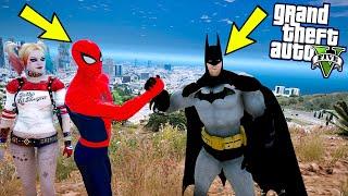 BATMAN SPIDERMAN'IN HAYATINI KURTARIYOR VE ARKADAŞ OLUYORLAR! - GTA 5