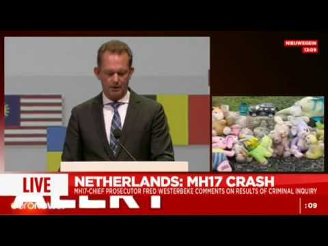 Press conf: 'MH17 shot down by BUK missile system from Russia'