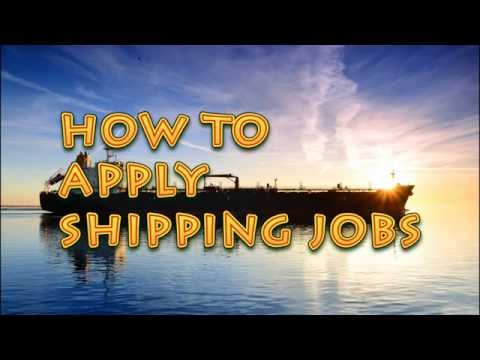 how to apply shipping jobs