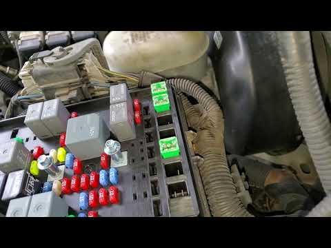 Rainier/Trailblazer AC Compressor Fuse And Relay Location