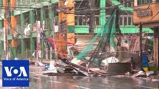 Ferocious Typhoon Barrels Through Rain-Soaked Philippines