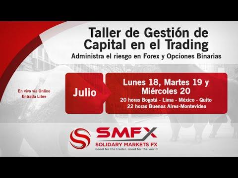 Taller de Gestión de Capitales en el Trading - Solidary Markets - Martes 19 de Julio