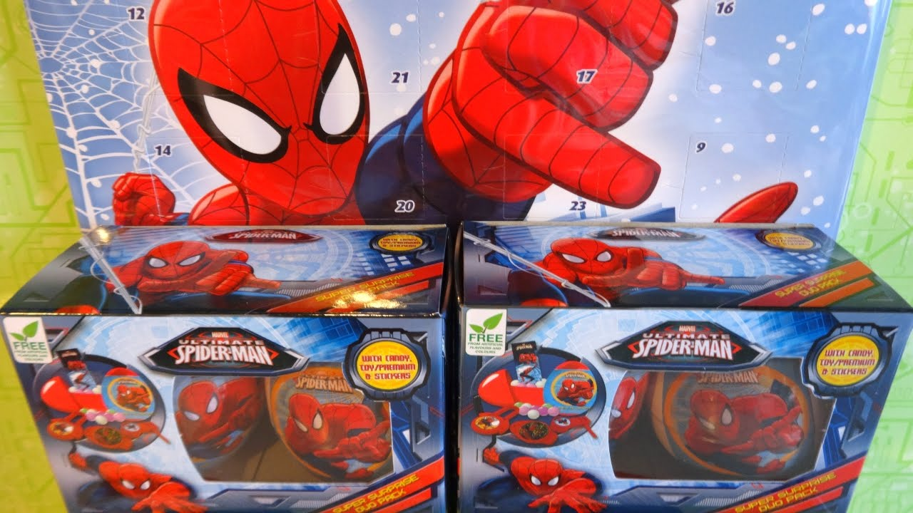 2015 Spider Man Super Surprise Duo Pack Advent Calendar