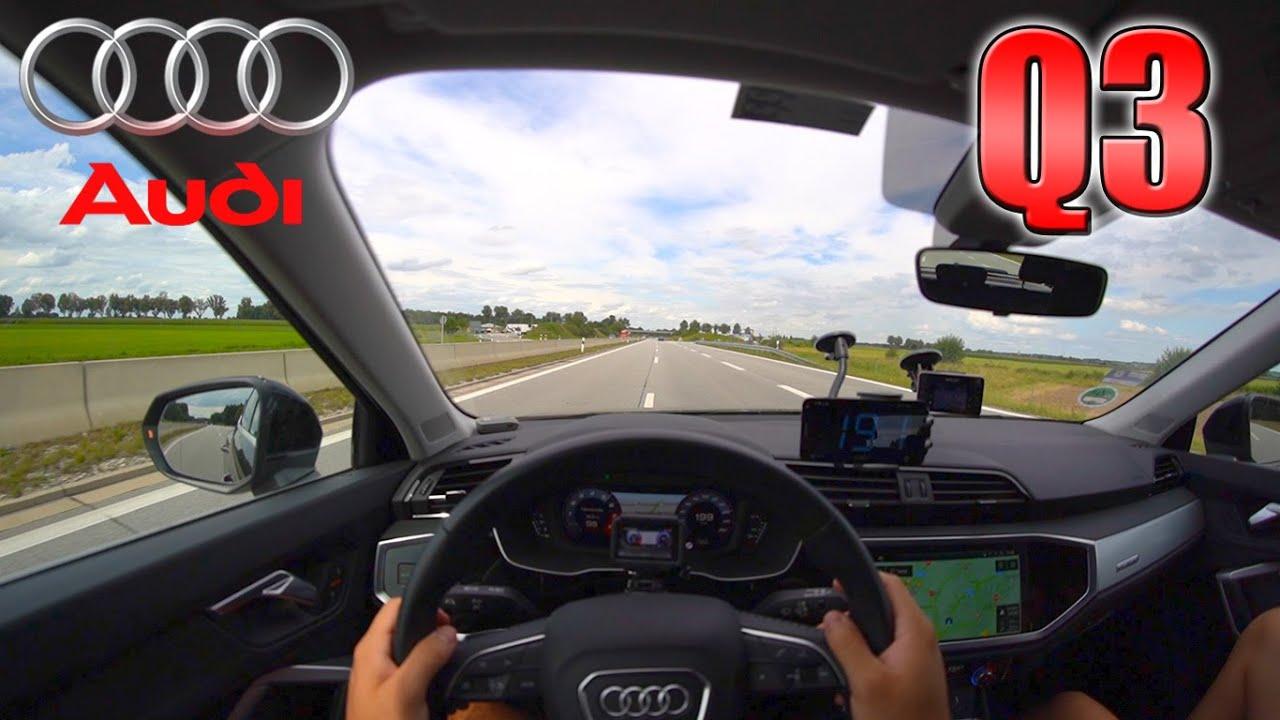 2020 Audi Q3 Sportback 45 TFSI pushing on German Autobahn ✔
