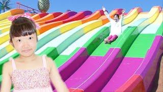 ★カラフルスライダー楽しい~!「ジャパーン」 in ジャンボ海水プール★Colorful waterslide「JAPAAAAN」★ thumbnail
