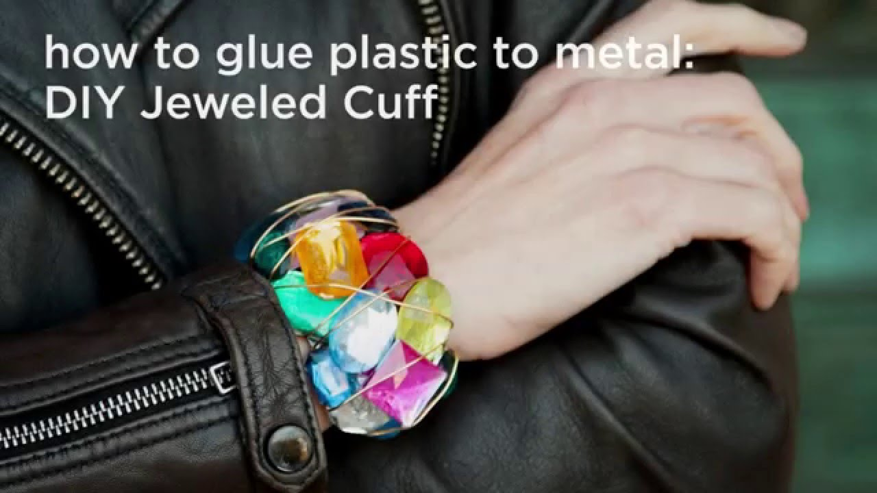 How To Glue Plastic To Metal Jeweled Cuff DIY With Trinkets In - Ponytail cuff diy