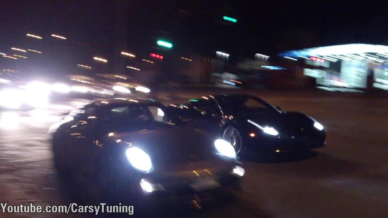 Porsche 997 Turbo vs Ferrari 458 Italia - x2 Races - YouTube