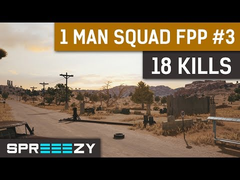 PUBG FPP 1 Man Squad Game #3 | 18 Kills | 1v4 Finish!