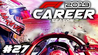 F1 2019 CAREER MODE Part 27: WHAT WAS HE DOING! NOT THE START WE WANTED!