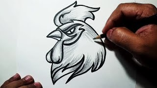 sketch chicken shade easy drawing draw head sketches pencil basic paintingvalley
