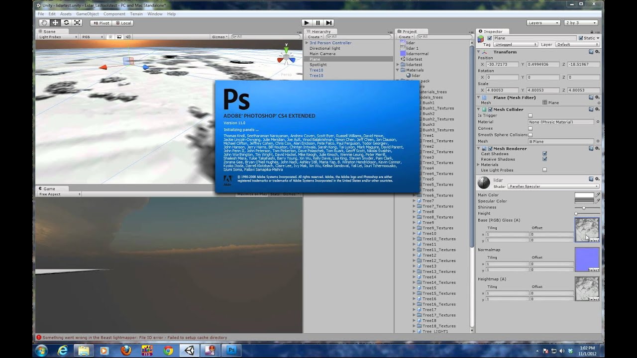 LIDAR Data integrated into a Game Engine - Unity