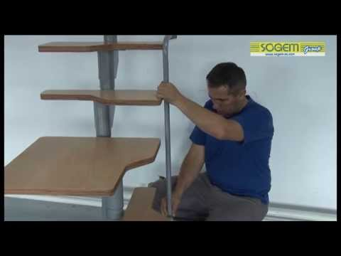 Montage d 39 un escalier gain de place en kit galaxy youtube - Escaliers gain de place ...