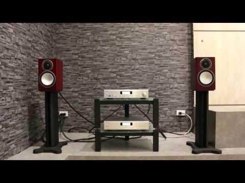 ROTEL A-12 WITH MONITOR AUDIO SILVER-1