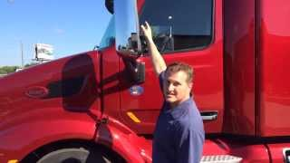 Shawn Schneider on the Peterbilt 579 at Truck of the Year today.