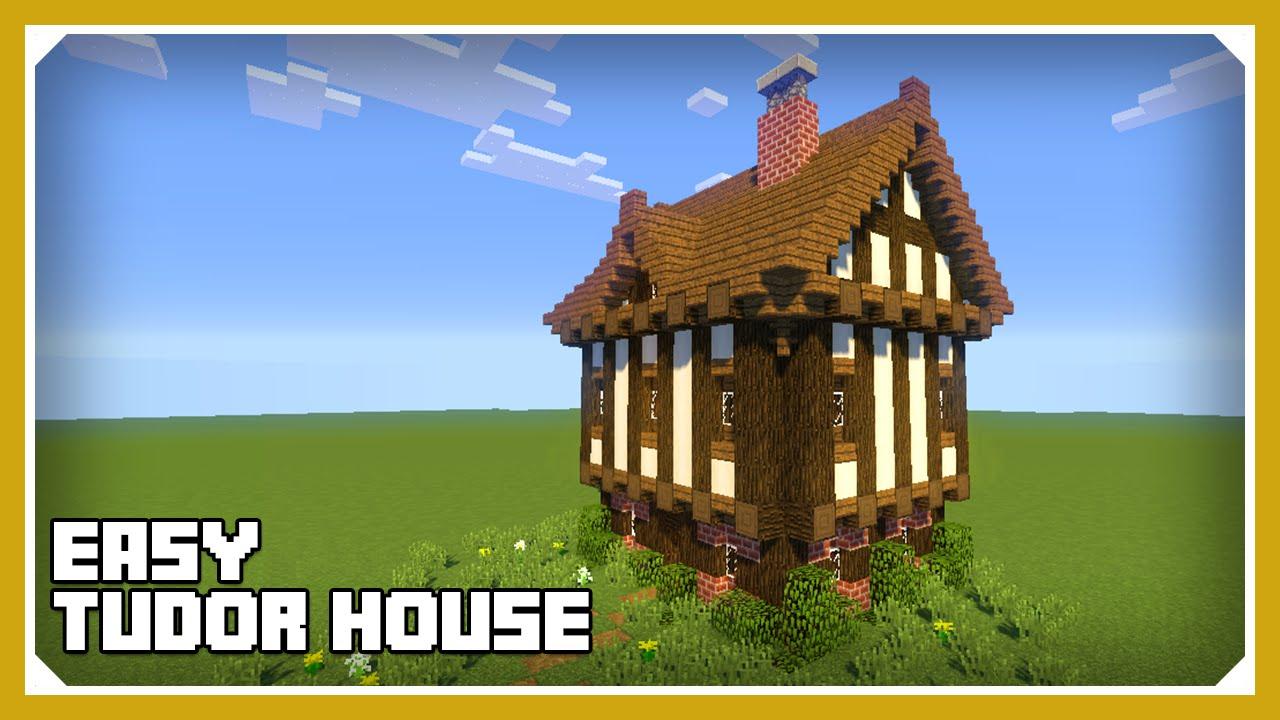 Minecraft How To Build A Tudor House Tutorial Easy