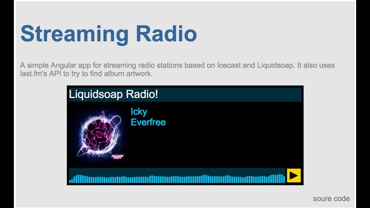 Streaming Radio Player made with Angular